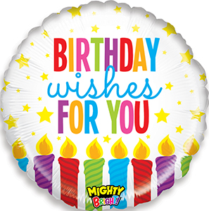 Mighty Bright Birthday Wishes Balloon By Betallic